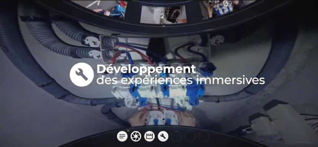 développement des expériences immersives